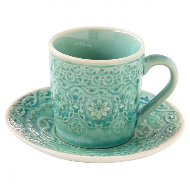 Φλιτζάνι Καφέ Stoneware Ambiente Green 110ml home   ειδη cafe τσαϊ   κούπες   φλυτζάνια
