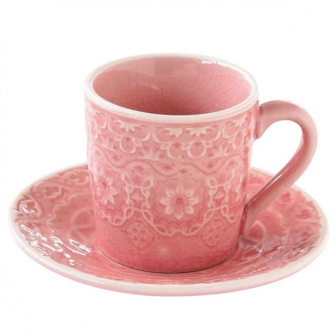 Φλιτζάνι Καφέ Stoneware Ambiente Pink 110ml