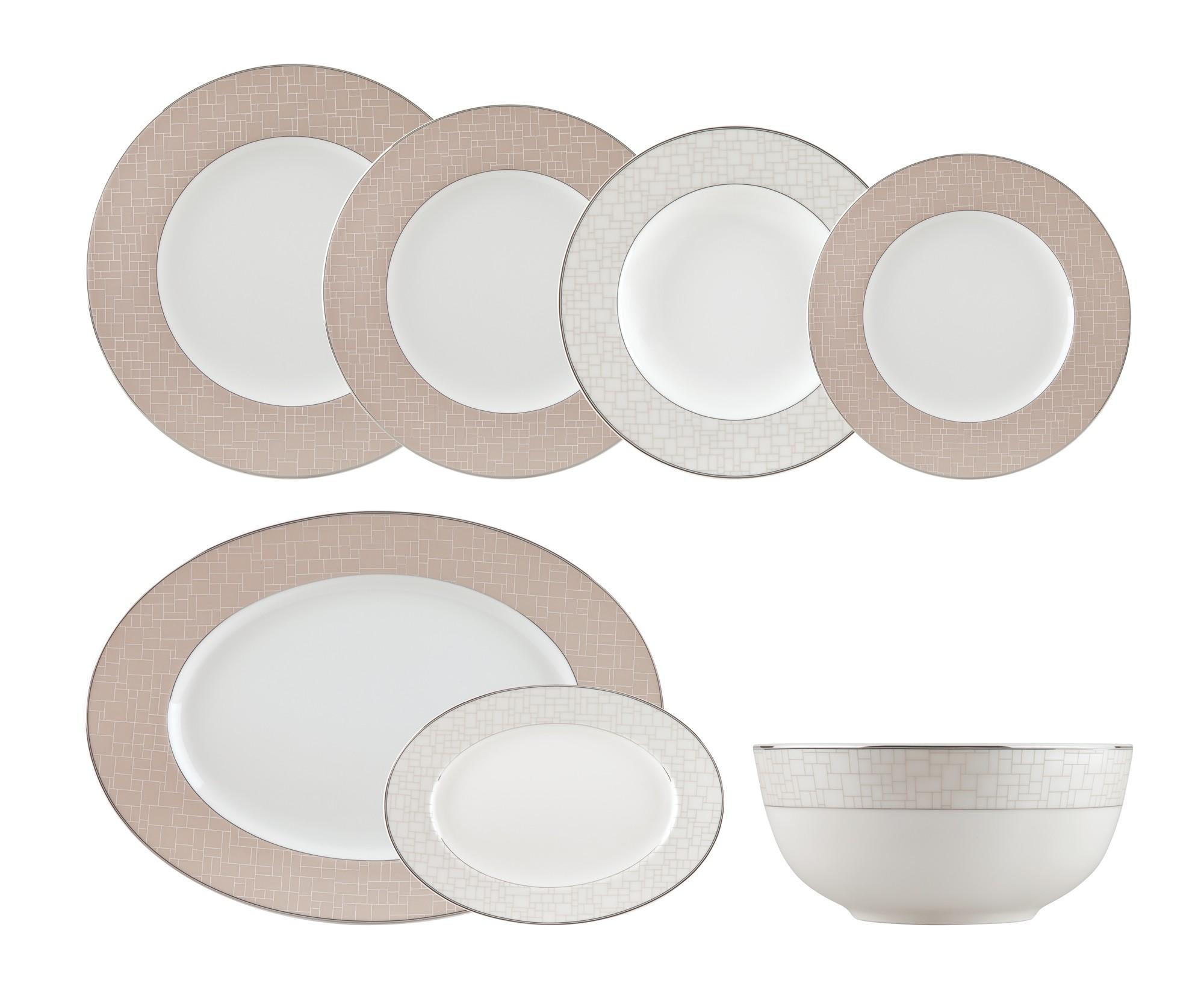 Σερβίτσιο Φαγητού Nymphes Σετ 42τμχ. Ionia home   ειδη σερβιρισματος   πιάτα