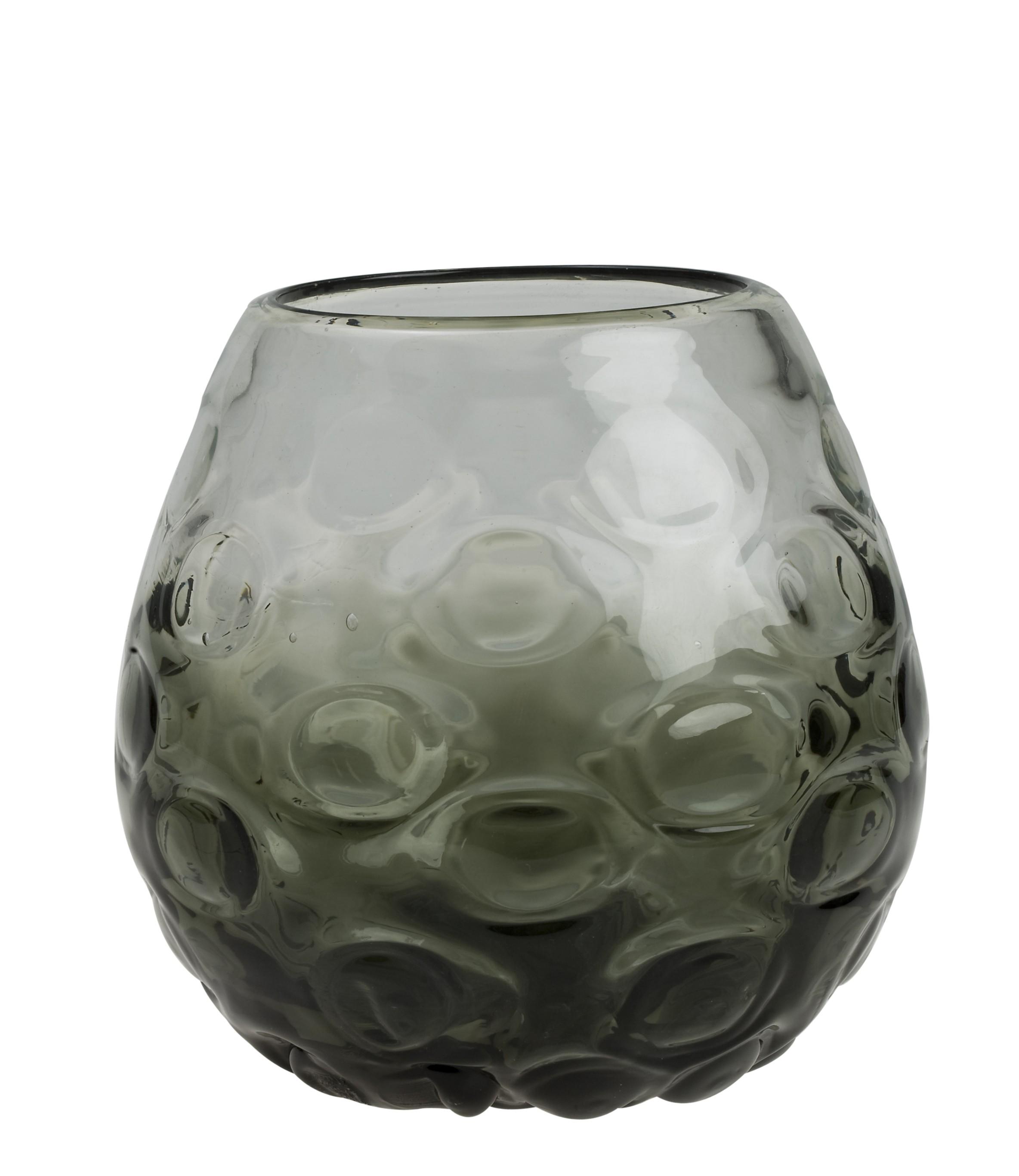 Ανθοδοχείο - Μπάλα Smokey Φυσητό Γυαλί 16,5cm home   κρυσταλλα  διακοσμηση   κρύσταλλα