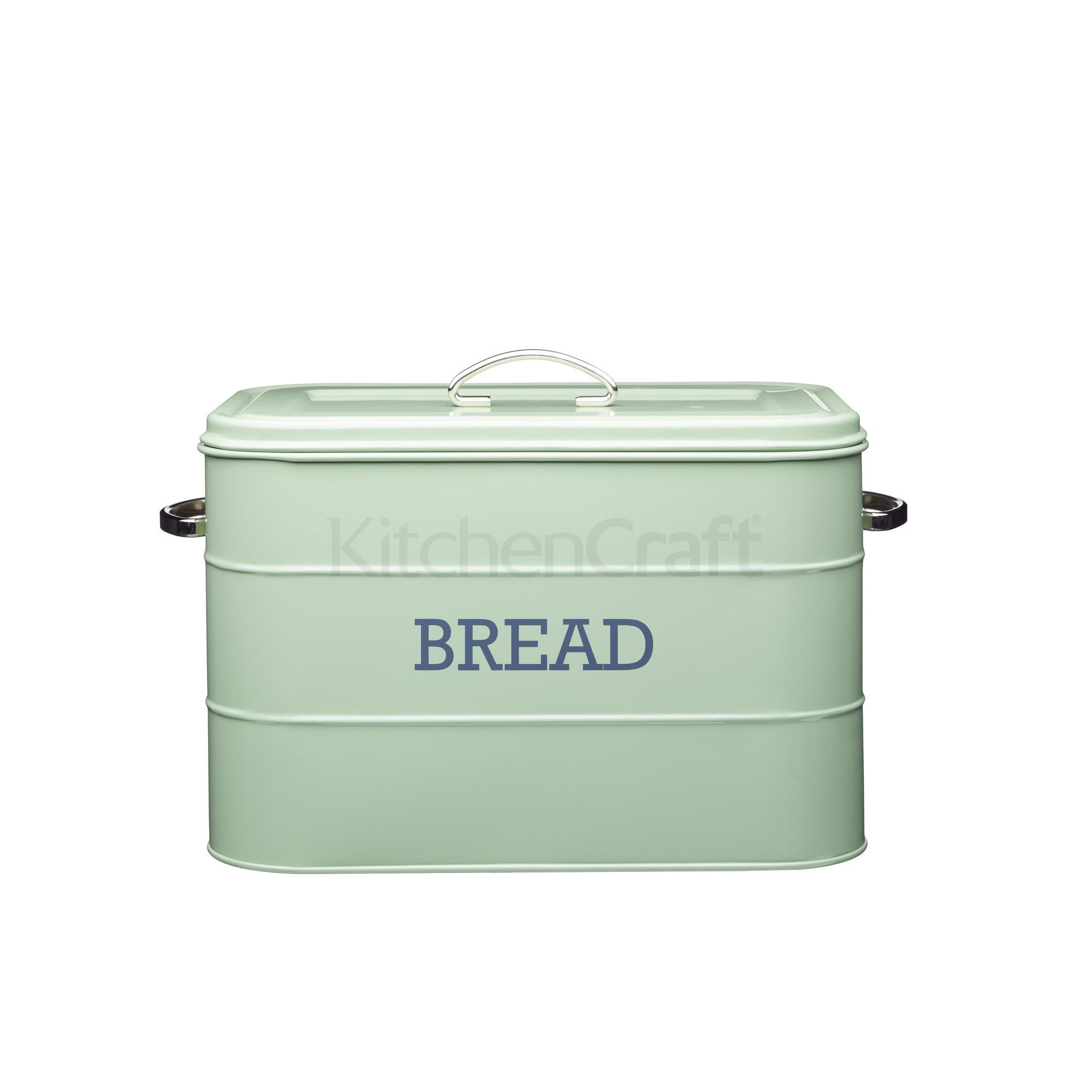 Ψωμιέρα Μεταλλική Living Nostalgia Sage Green By Kitchencraft home   αξεσουαρ κουζινας   ψωμιέρες   φρουτιέρες