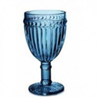 Ποτήρι Κρασιού Dots Blue 230ml. Marva Home
