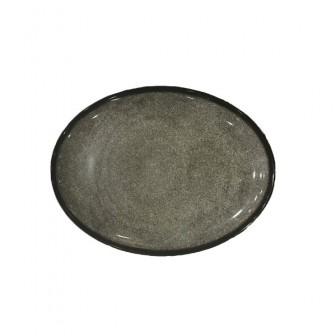 Πιατέλα Οβάλ Marble Black 35cm