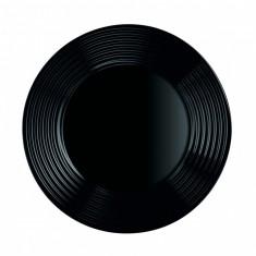 Πιάτο Ρηχό Harena 25cm Luminarc Μαύρο