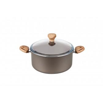 Χύτρα Αντικολλητική Olive Με Γυάλινο Καπάκι 22cm Fest