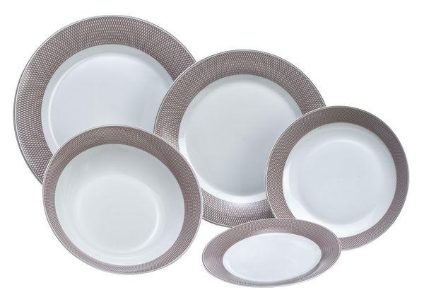 Σερβίτσιο Φαγητού Elipsis Beige 20τμχ. home   ειδη σερβιρισματος   πιάτα   σερβίτσια