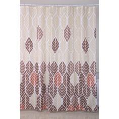 Κουρτίνα Μπάνιου Υφασμάτινη 180x200cm Φυλλαράκια