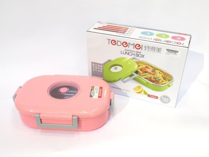 Φαγητοδοχείο Ισοθερμικό Ανοξείδωτο Pink 980ml Tedemei home   αξεσουαρ κουζινας   δοχεία τροφίμων   βάζα αποθήκευσης