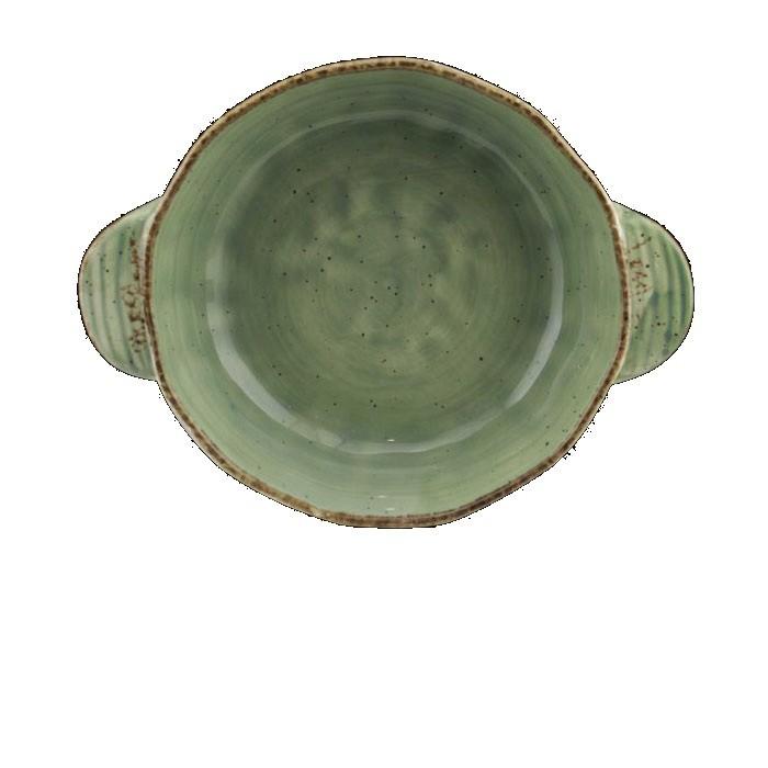 Ταψί Πυρίμαχο Splash Στρογγυλό Πράσινο 26cm Marva Home home   σκευη μαγειρικης   πυρίμαχα