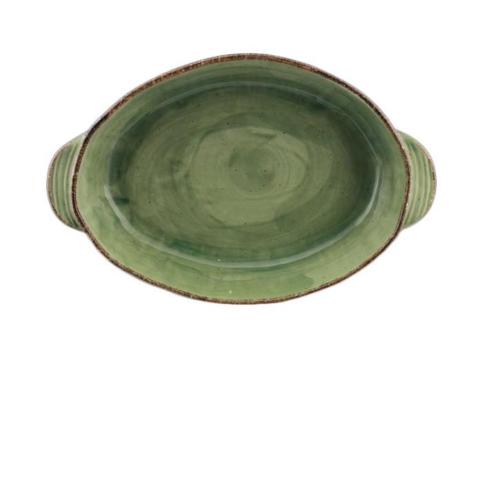 Ταψί Πυρίμαχο Splash Οβάλ Πράσινο 40cm Marva Home home   σκευη μαγειρικης   πυρίμαχα