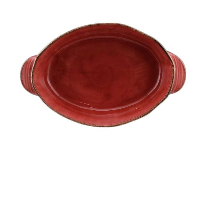 Ταψί Πυρίμαχο Splash Οβάλ Κόκκινο 33cm Marva Home home   σκευη μαγειρικης   πυρίμαχα