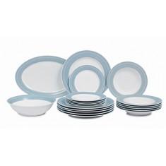 Σερβίτσιο Φαγητού Full Blue Grey 20τμχ