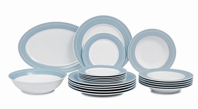 Σερβίτσιο Φαγητού Full Blue Grey 20τμχ home   ειδη σερβιρισματος   πιάτα   σερβίτσια