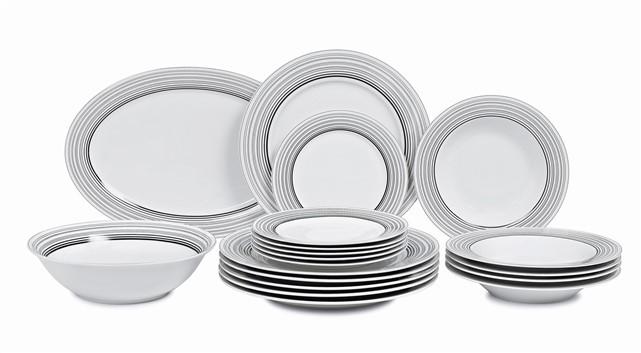 Σερβίτσιο Φαγητού Full Black Stripes 20τμχ home   ειδη σερβιρισματος   πιάτα   σερβίτσια