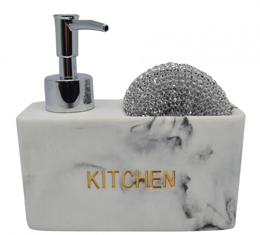 Dispencer Θήκη Για Υγρό Απορυπαντικό Πιάτων Μάρμαρο home   αξεσουαρ κουζινας   πιατοθήκες   στεγνωτήρες
