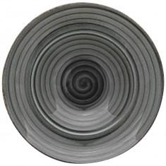 Πιάτο Σπαγγέτι Πορσελάνης Avanos Anthracite 26cm Gural