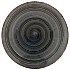 Πιατέλα Στρογγυλή Πορσελάνης Avanos Anthracite 30cm Gural