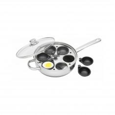 Κατσαρόλα - Τηγάνι Για Αυγά Ποσέ 6 Θέσεων Kitchencraft