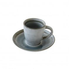 Φλυτζάνι Καφέ Πορσελάνης 75ml Γκρι R2S