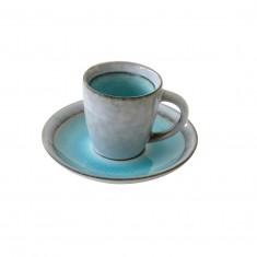 Φλυτζάνι Καφέ Πορσελάνης 75ml Τυρκουάζ R2S