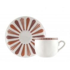 Φλυτζάνι & Πιάτο Καφέ Medea Σετ 6τμχ Ionia