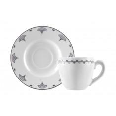 Φλυτζάνι & Πιάτο Καφέ Antigoni Σετ 6τμχ Ionia