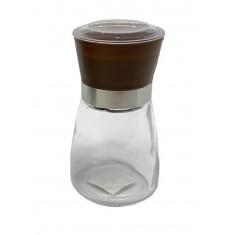 Μύλος Αλατοπίπερου Γύαλινος Καφέ 13cm