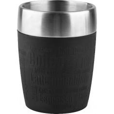Ποτήρι Θερμός Ανοξείδωτο Σιλικόνης Tefal TF Black 200ml.