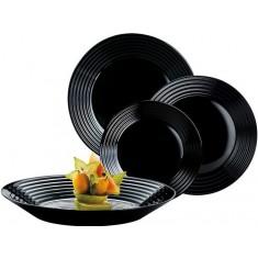 Σερβίτσιο Φαγητού Harena 18Τμχ. Μαύρο Luminarc