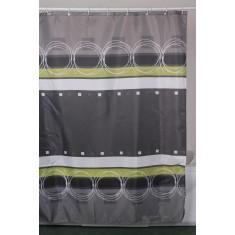 Κουρτίνα Μπάνιου Υφασμάτινη 180x180cm Κύκλοι