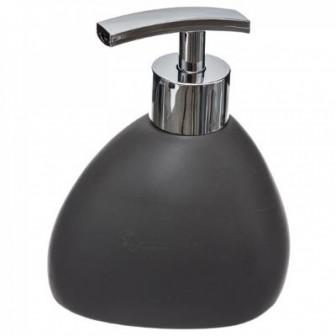 Dispencer Θήκη Για Κρεμοσάπουνο Κεραμικό Βότσαλο Grey Mat