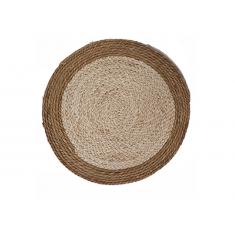Σουπλά Ψάθινο Στρογγυλό Seagrass Μπεζ- Εκρού 35cm