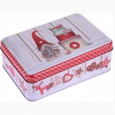 Κουτί Μεταλλικό Ορθογώνιο Χριστουγεννιάτικο Gnome 16cm