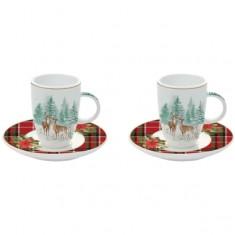 Φλιτζάνι Espresso Σετ 2τμχ. Πορσελάνης Winter Forest R2S