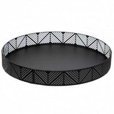 Φρουτιέρα Frieze Μεταλλική Στρογγυλή Μαύρη 30cm