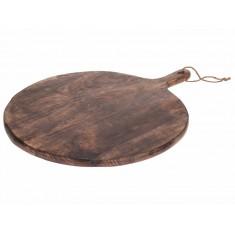 Πλατό Σερβιρίσματος Ξύλινο Στρογγυλό Mango 40cm