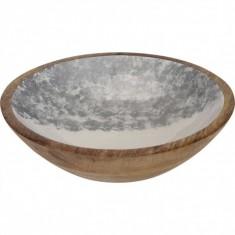 Μπολ Ξύλινο Mango Silver 24cm