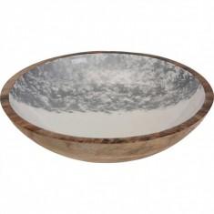 Μπολ Ξύλινο Mango Silver 30cm
