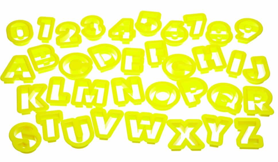 κουπ-πατ σετ 36τεμάχια γράμματα & αριθμοί kitchencraft home   ζαχαροπλαστικη   κουπ   πατ