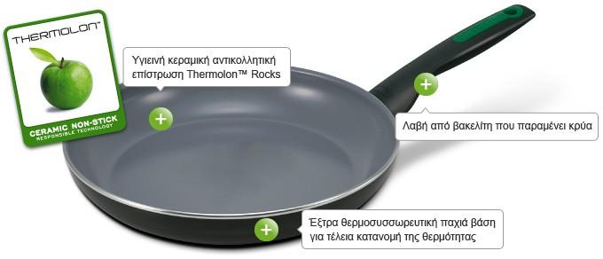 τηγάνι green pan 24cm rio κεραμικό home   σκευη μαγειρικης   τηγάνια