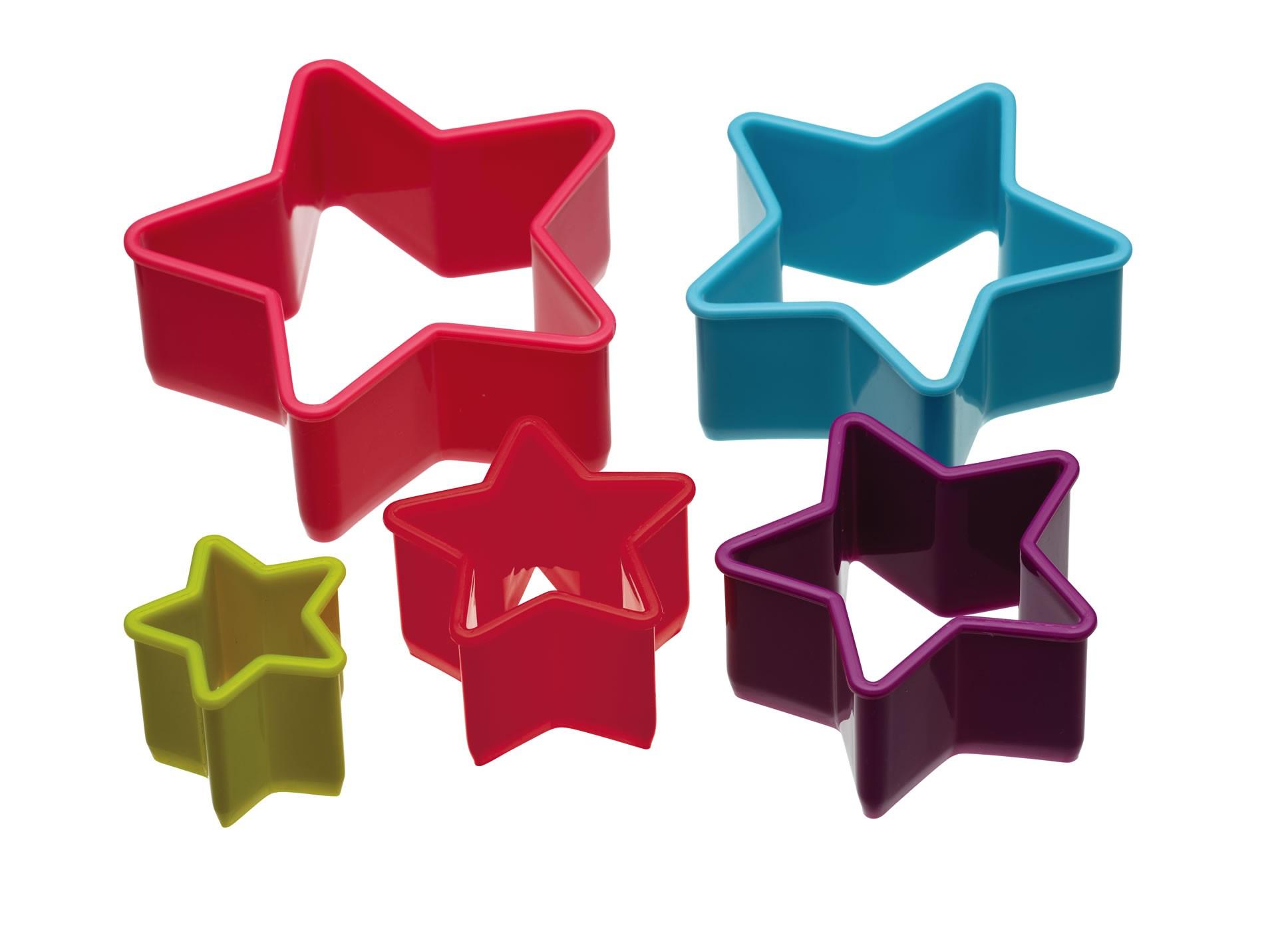 κουπ-πατ σετ 5 τεμάχια αστέρι colourworks by kitchencraft home   ζαχαροπλαστικη   κουπ   πατ