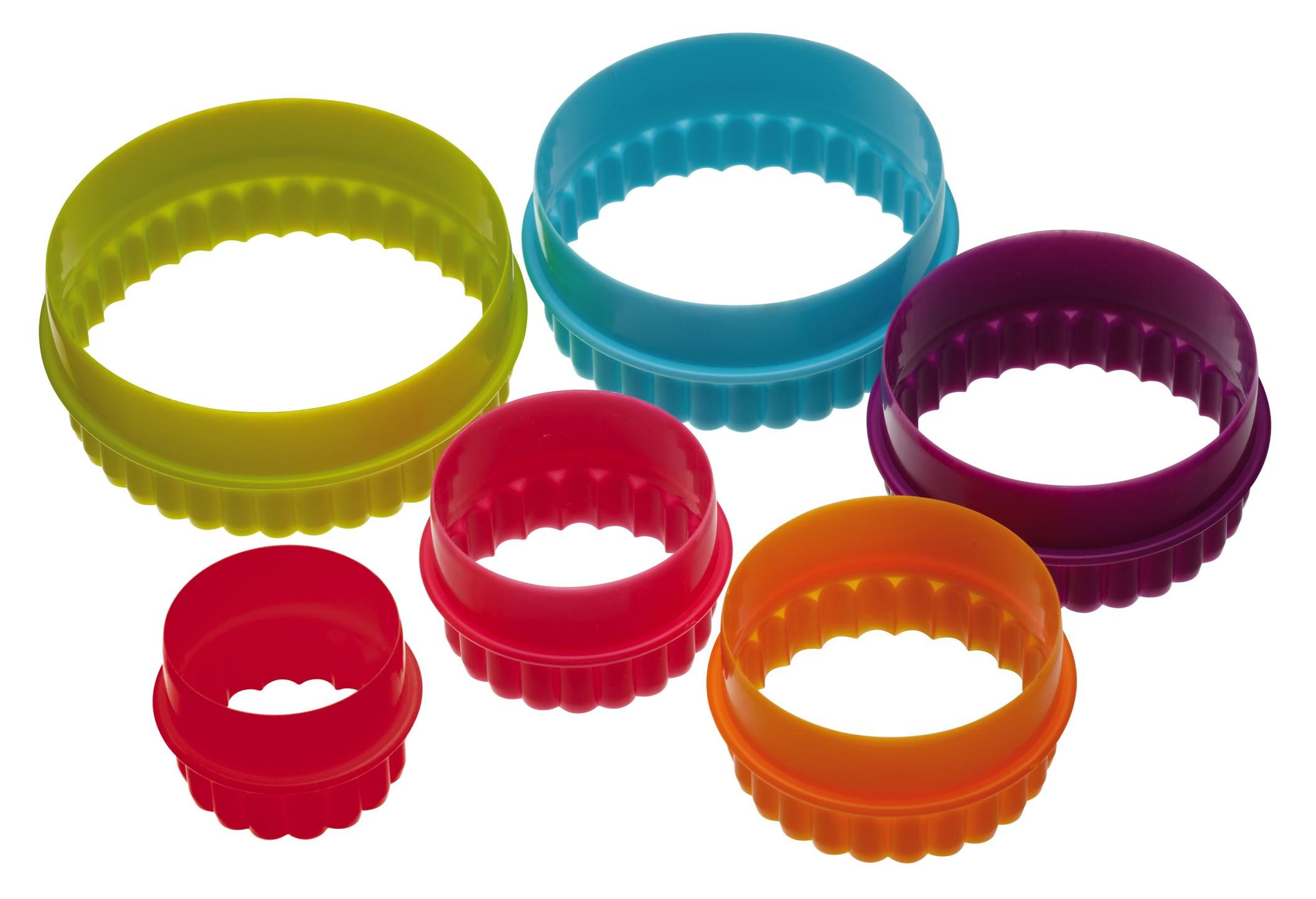 κουπ-πατ σετ 6 τεμάχια στρογγυλά colourworks by kitchencraft home   ζαχαροπλαστικη   κουπ   πατ