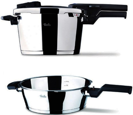 Set Quattro Vitaquick 8Lt (1καπάκι) Fissler home   σκευη μαγειρικης   κατσαρόλες χύτρες   χύτρες ταχύτητας