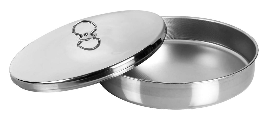 ταψί στρογγυλό inox με καπάκι 34cm Venus home   σκευη μαγειρικης   ταψιά