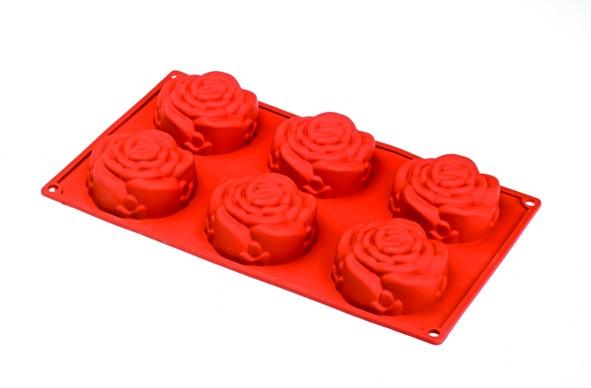 φόρμα σιλικόνης τριαντάφυλλο 6θέσεων happy flex home   ζαχαροπλαστικη   φόρμες σιλικόνης