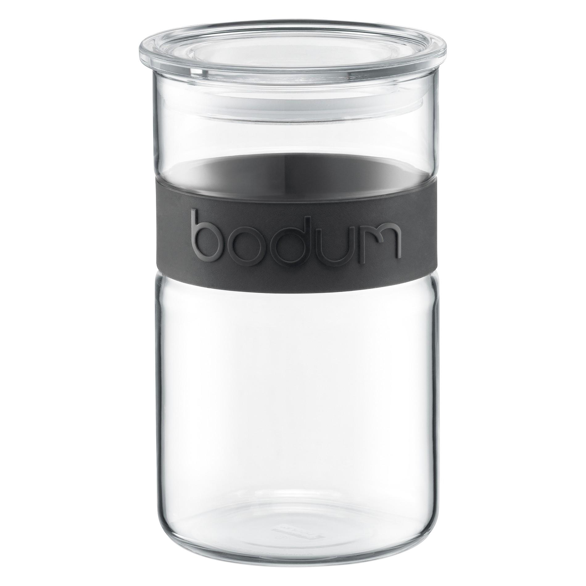 βάζο bodum γυάλινο μαύρο 1 lit home   ειδη cafe τσαϊ   δοχεία καφε   ζάχαρης