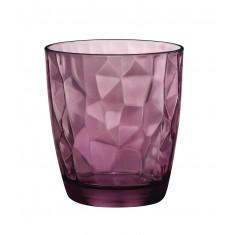 ποτήρι ουίσκι bormioli diamond μώβ 30,5cl