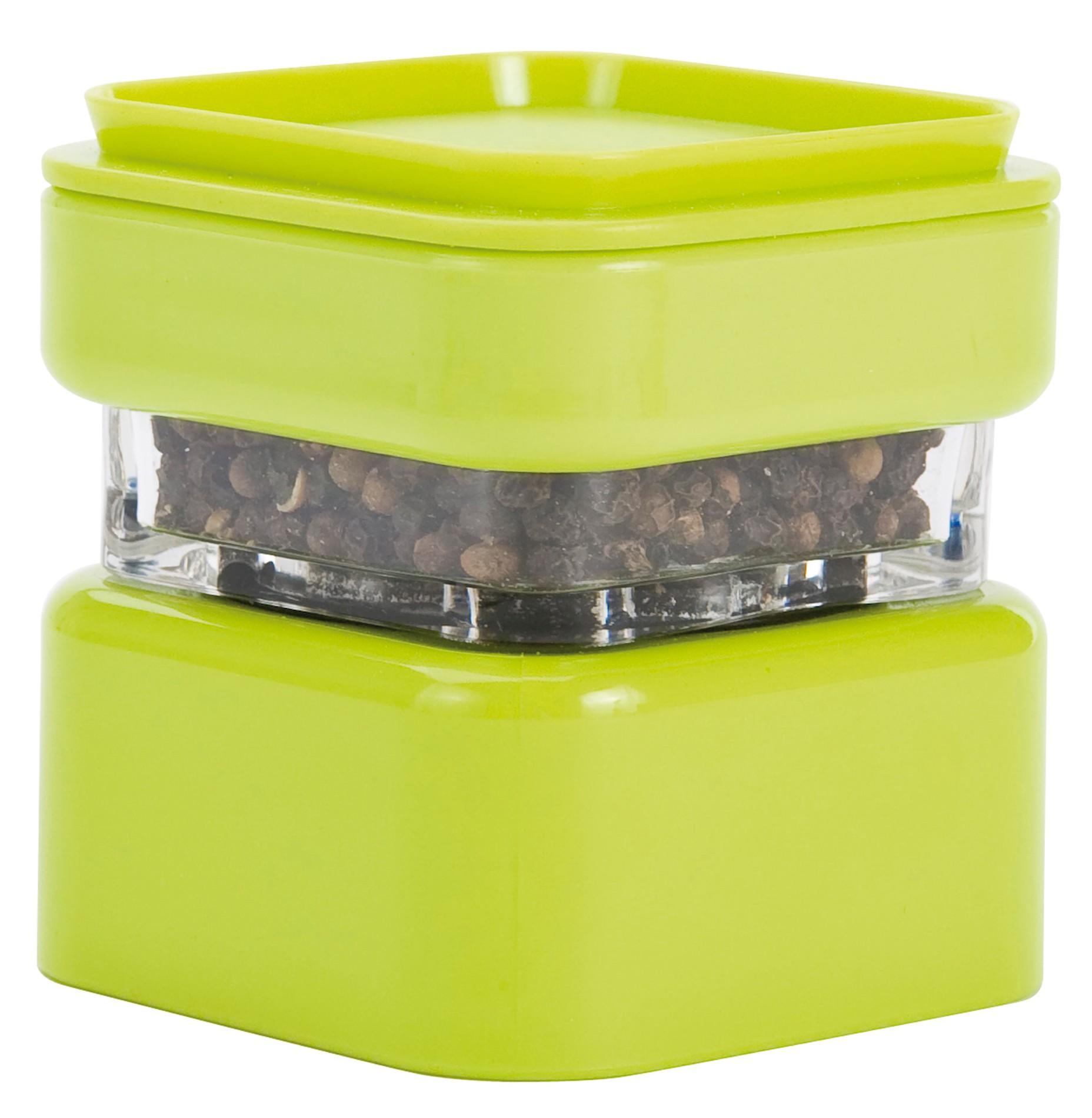 μύλος αλατοπίπερου zak μελαμίνης πράσινος στοιβαζόμενος home   αξεσουαρ κουζινας   μύλοι αλατοπίπερου