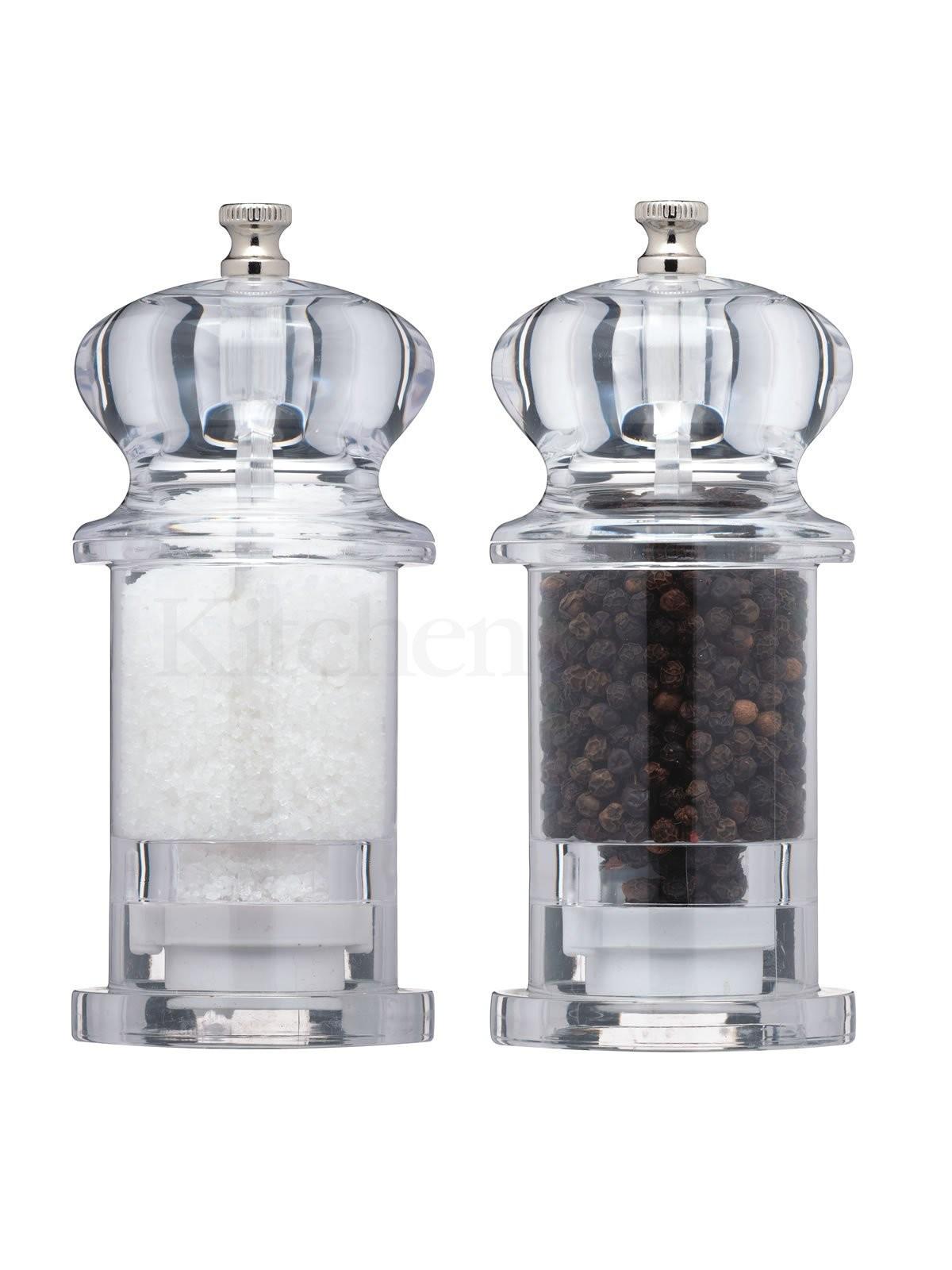 Μύλοι Σετ Αλάτι-Πιπέρι Διάφανοι Ακρυλικοί 13cm Masterclass home   αξεσουαρ κουζινας   μύλοι αλατοπίπερου