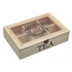 κουτι ξυλινο τσαι kitchencraft
